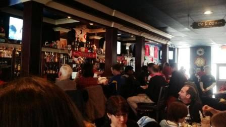 Good crowd at the pub on Boxing Day cheering on the Reds