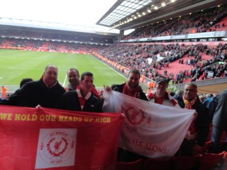 LFC Raleigh represents at the Kop to witness 5-1 over the Arsenal