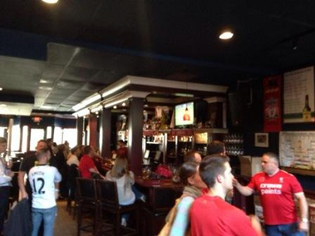 A good crowd at the pub for a mid-week fixture against Sunderland