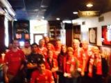 7 AM on Easter Sunday won't keep these LFC Raleigh fans from watching the Reds beat Norwich 3-2