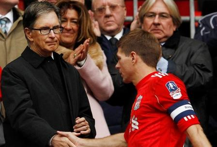 John Henry congratulates Captain Fantastic (photo courtesy of NBC Sports)
